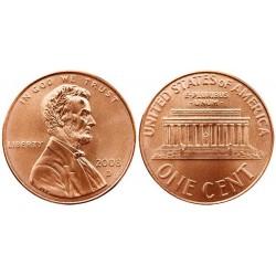 سکه 1 سنت - برنجی - آمریکا 2008 غیر بانکی