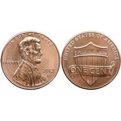 سکه 1 سنت - برنجی - آمریکا 2012 غیر بانکی