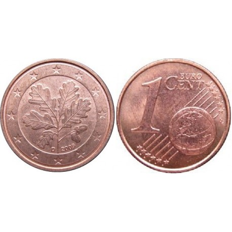 سکه 1 سنت یورو - مس روکش فولاد - آلمان 2007 غیر بانکی