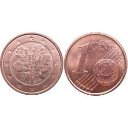 سکه 1 سنت یورو - مس روکش فولاد - آلمان 2017 غیر بانکی