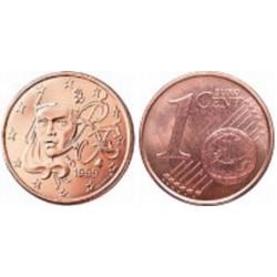 سکه 1 سنت یورو - مس روکش فولاد - فرانسه 2009 غیر بانکی