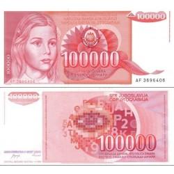 اسکناس 100.000 دینار - یوگوسلاوی 1989