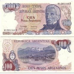 اسکناس 100 پزو - آرژانتین 1983