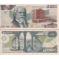 اسکناس 2000 پزو - مکزیک 1987 سری BY