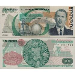 اسکناس 10000 پزو - مکزیک 1991 سری QB