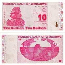 اسکناس 10 دلاری زیمباوه 2009 تک بانکی