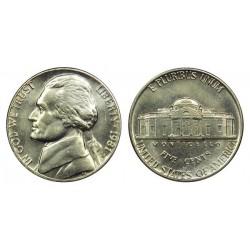 سکه 5 سنت - نیکل مس - آمریکا 1981 غیر بانکی