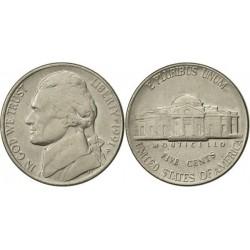 سکه 5 سنت - نیکل مس - آمریکا 1991 غیر بانکی