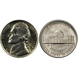 سکه 5 سنت - نیکل مس - آمریکا 1992 غیر بانکی