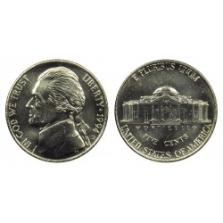 سکه 5 سنت - نیکل مس - آمریکا 1994 غیر بانکی