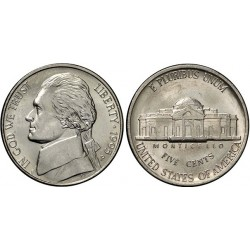 سکه 5 سنت - نیکل مس - آمریکا 1995 غیر بانکی