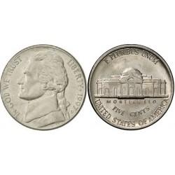 سکه 5 سنت - نیکل مس - آمریکا 1997 غیر بانکی