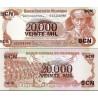 اسکناس سورشارژ 20000 کردوبا - نیکاراگوئه 1987