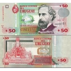 اسکناس 50 پزو - اورگوئه 2011