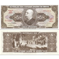 اسکناس 5 کروزرو - برزیل 1964