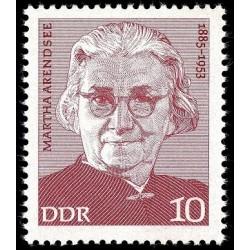 1 عدد تمبر یادبود مارتا آرندسه - سیاستمدار و فعال حقوق زنان  - جمهوری دموکراتیک آلمان 1975