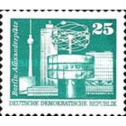 1 عدد تمبر سری پستی - ساعت جهانی میدان الکساندر - سری کوچک - جمهوری دموکراتیک آلمان 1975