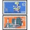 2 عدد تمبر نمایشگاه بهاره لایپزیک - جمهوری دموکراتیک آلمان 1975
