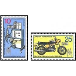 2 عدد تمبر نمایشگاه پائیزه لایپزیک - جمهوری دموکراتیک آلمان 1975