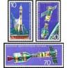 3 عدد تمبر  همکاری فضائی آمریکا و شوروی - جمهوری دموکراتیک آلمان 1975 قیمت 2.9 دلار