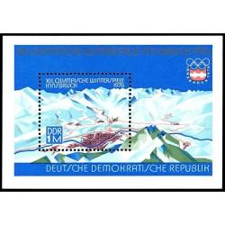 مینی شیت بازیهای المپیک زمستانی - اینزبروک اتریش - جمهوری دموکراتیک آلمان 1975
