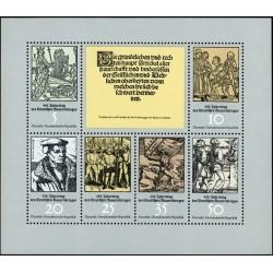 مینی شیت 450مین سالگرد جنگ دهقانی آلمان - جمهوری دموکراتیک آلمان 1975