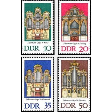 4 عدد تمبر ارگهای ساخت سیلبرمن - جمهوری دموکراتیک آلمان 1976