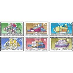 6 عدد تمبر بازیهای المپیک - مونترال کانادا - جمهوری دموکراتیک آلمان 1976