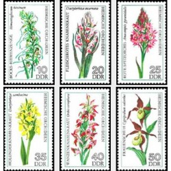 6 عدد تمبر گلهای ارکیده - جمهوری دموکراتیک آلمان 1976 قیمت 4.94 دلار