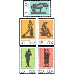 5 عدد تمبر اشیا و قطعات موزه - جمهوری دموکراتیک آلمان 1976