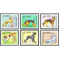 6 عدد تمبر سگها - جمهوری دموکراتیک آلمان 1976