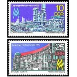 2 عدد تمبرنمایشگاه پائیزه لایپزیک - جمهوری دموکراتیک آلمان 1976