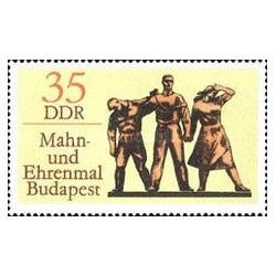 1 عدد تمبر بنای یادبود در بوداپست - جمهوری دموکراتیک آلمان 1976