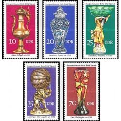 5 عدد تمبر صنایع دستی تاریخی - جمهوری دموکراتیک آلمان 1976