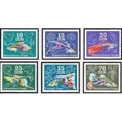6 عدد تمبر ماهیهای گوپی - جمهوری دموکراتیک آلمان 1976