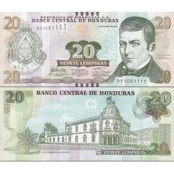 اسکناس 20 لمپیراس - هندوراس 2012