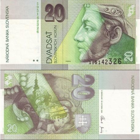 اسکناس 20 کرون - اسلواکی 2006