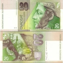 اسکناس 20 کرون - اسلواکی 2004