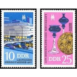 2 عدد تمبر نمایشگاه پائیزه لایپزیک - جمهوری دموکراتیک آلمان 1977