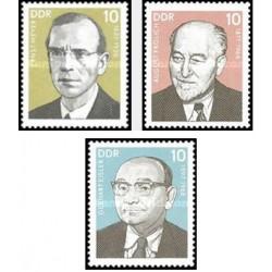 3 عدد تمبر شخصیتهای جنبش کارگری - جمهوری دموکراتیک آلمان 1977