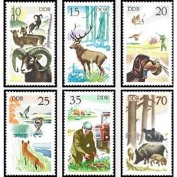 6 عدد تمبر شکار - جمهوری دموکراتیک آلمان 1977