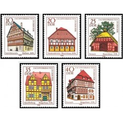 5 عدد تمبرمعماری - بناها - جمهوری دموکراتیک آلمان 1978