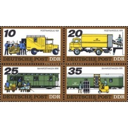 4 عدد تمبر حمل و نقل پستی - جمهوری دموکراتیک آلمان 1978