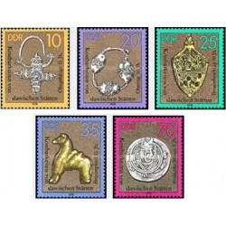 5 عدد تمبر هنر اسلاوی - جمهوری دموکراتیک آلمان 1978