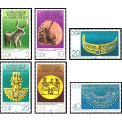 6 عدد تمبر هنر آفریقائی - جمهوری دموکراتیک آلمان 1978