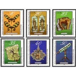 6 عدد تمبر 250مین سال موزه علوم درسدن - جمهوری دموکراتیک آلمان 1978
