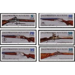 6 عدد تمبر اسلحه های شکاری - جمهوری دموکراتیک آلمان 1978