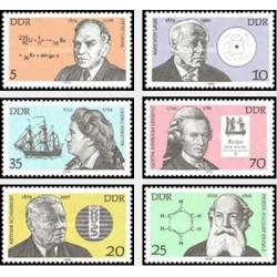 6 عدد تمبر شخصیتها - جمهوری دموکراتیک آلمان 1979