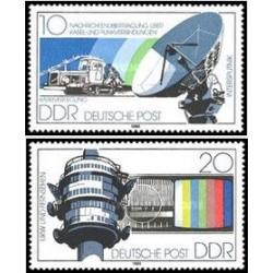 2 عدد تمبر رادیو و تلویزیون - جمهوری دموکراتیک آلمان 1980