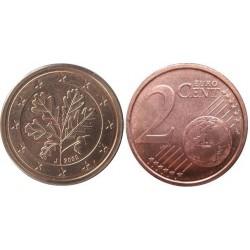 سکه 2 سنت یورو - مس روکش فولاد - آلمان 2009 غیر بانکی